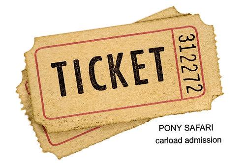 Pony Safari CARLOAD Ticket