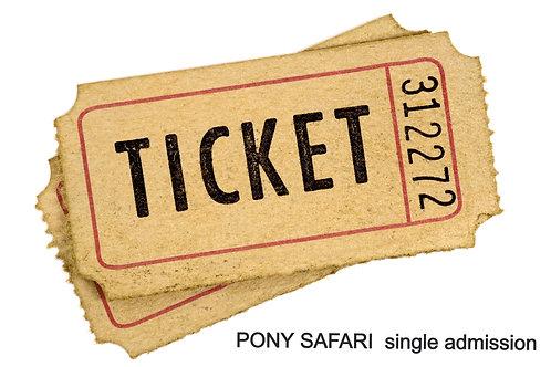 Pony Safari SINGLE addmission