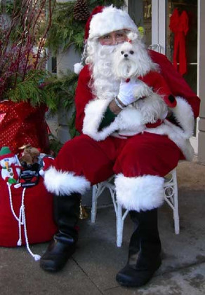 Heidi with Santa