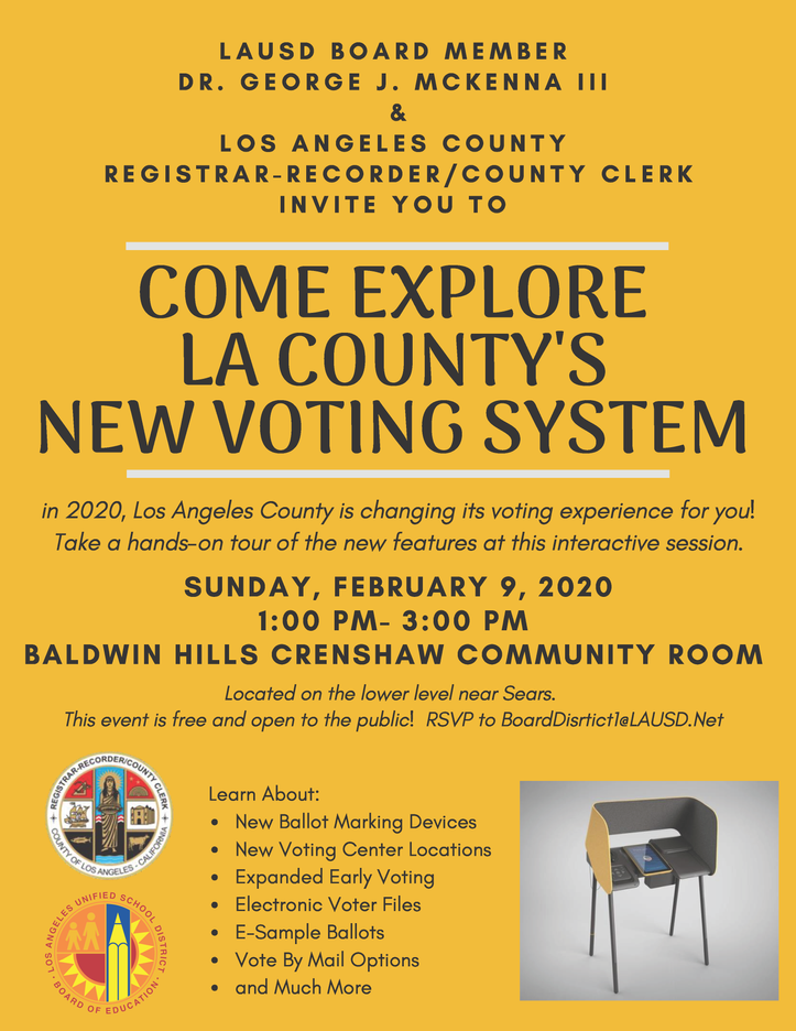 COME EXPLORE LA COUNTY'S NEW VOTING SYSTEM
