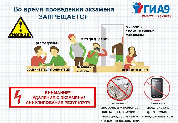 О правилах поведения во время экзамена_а
