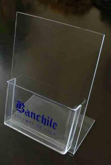 Portafolletos acrílico para Banchile