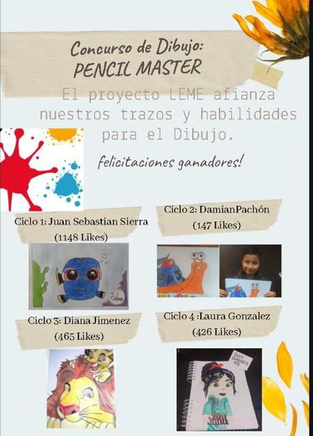 """Ganadores del Concurso de Dibujo """"Pencil Master"""""""