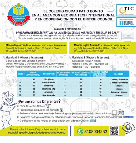 Escuela de Inglés - Programa de Ingles Virtual