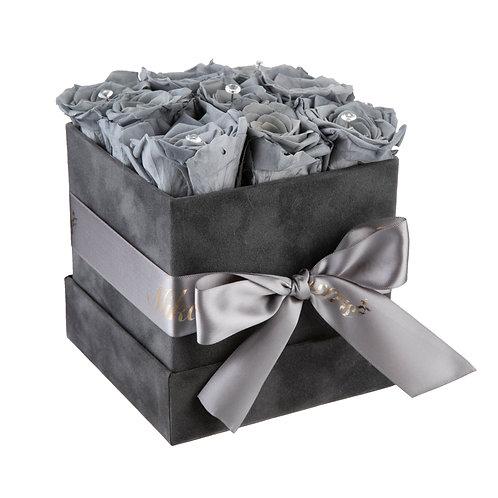 Small Grey Cube Box