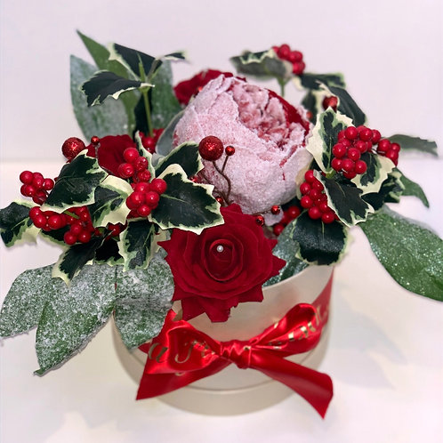Christmas Faux Flower Box