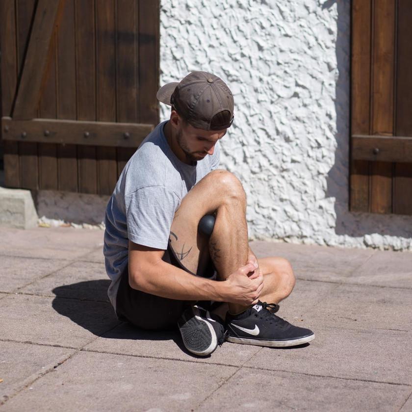Ecrasement et écartement extérieur du genou avec balle 2