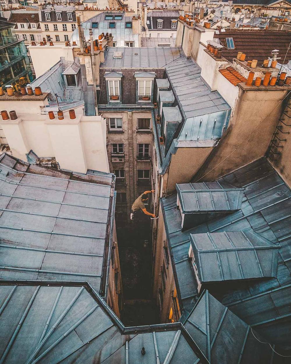 Gros saut de toits