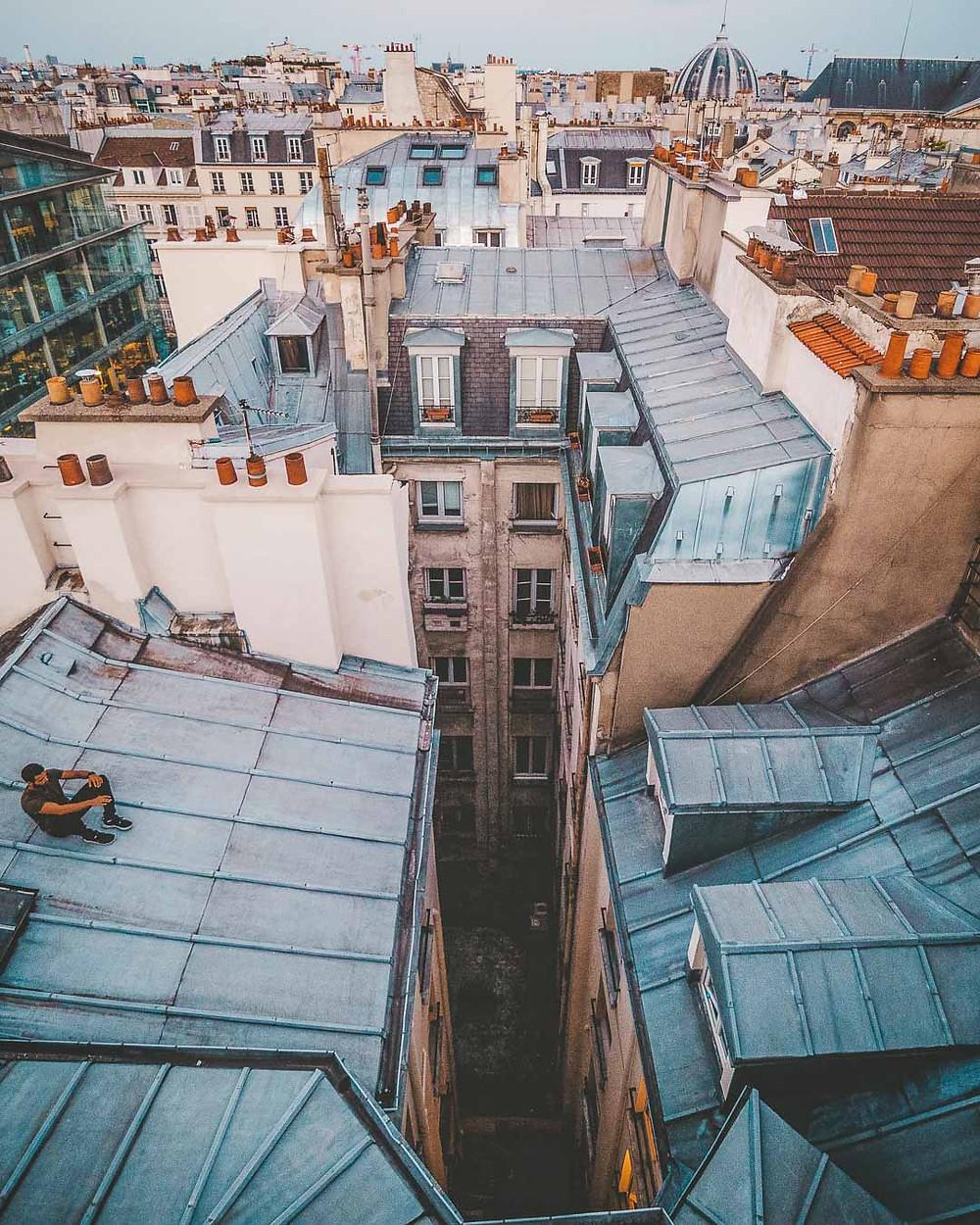 Concentration pour le saut de toits