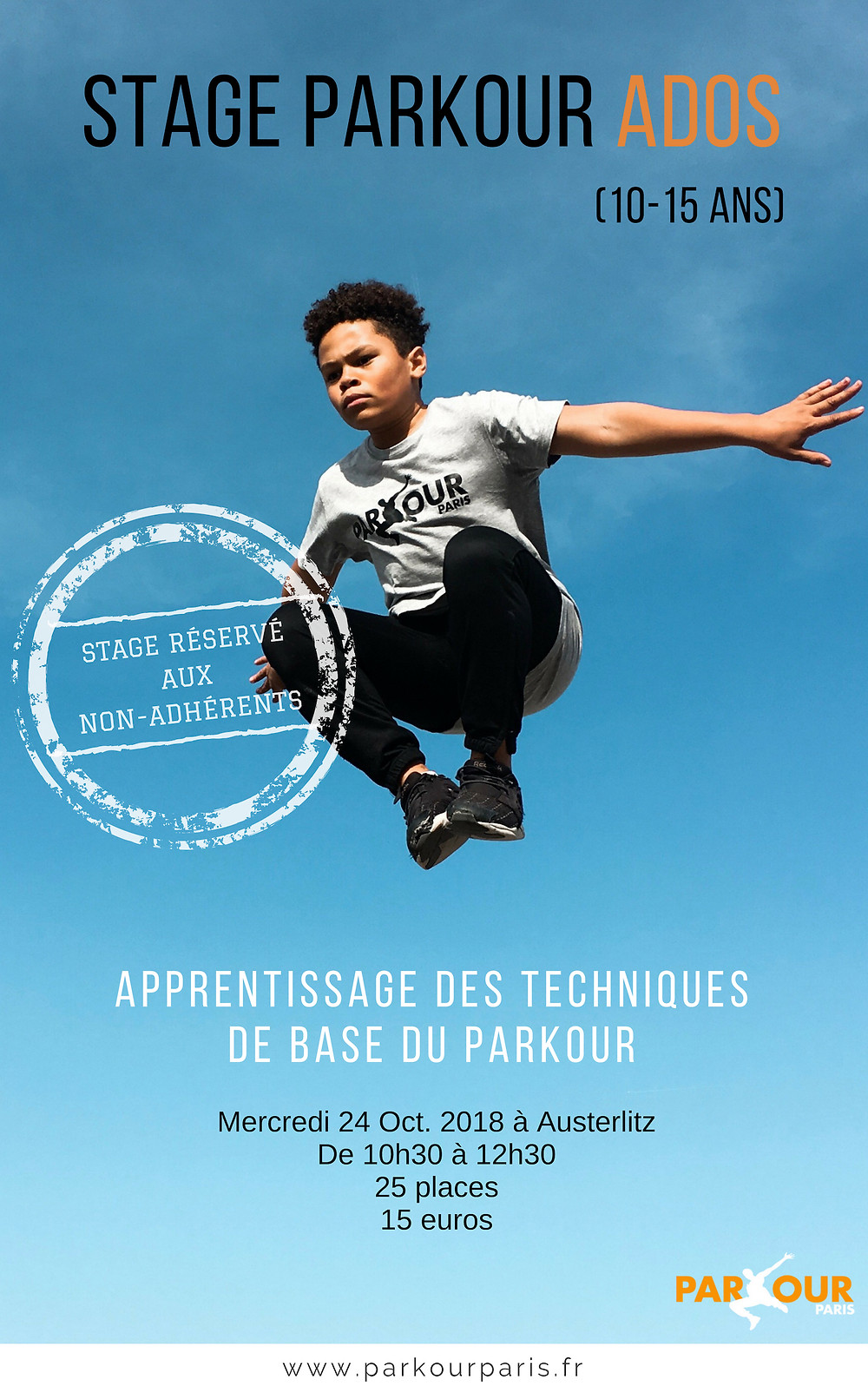 Stage Parkour Ados - 10/15 ans