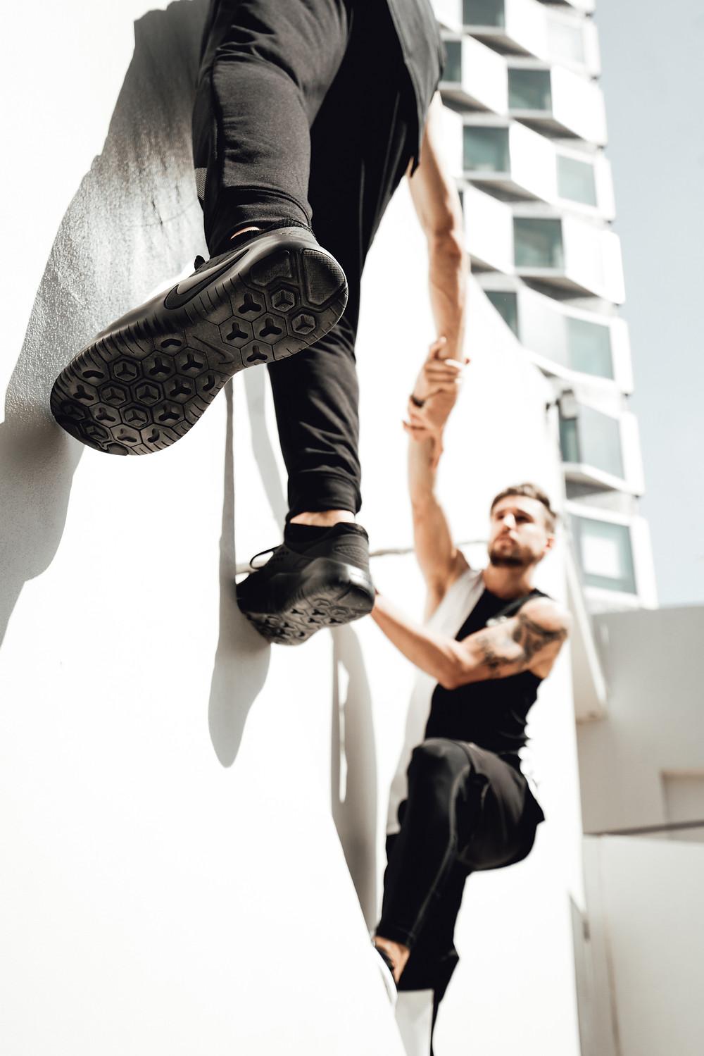 Parkour avec Nike Free X Metcon 2