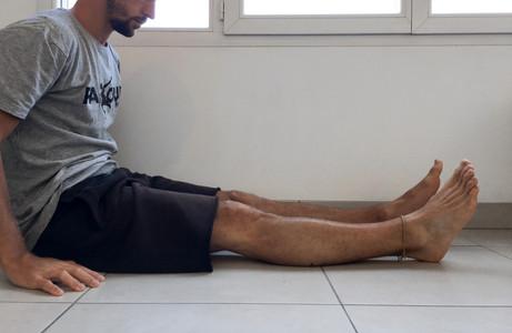 Extension terminale du genou nulle