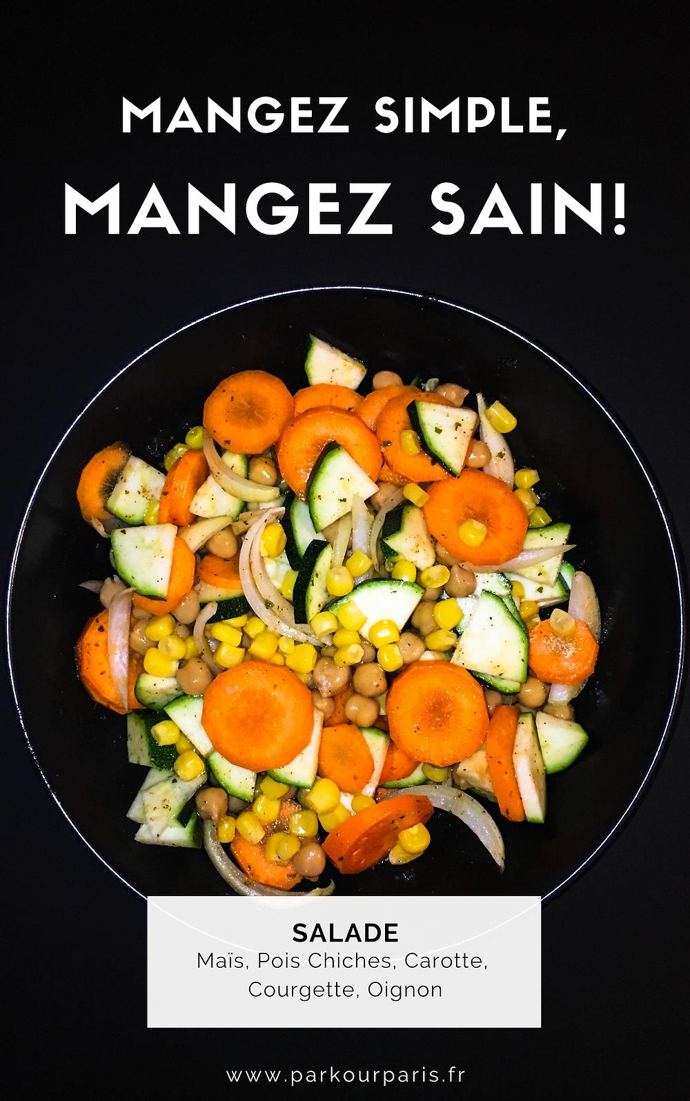 Mangez Simple, Mangez Sain : Salade du soir
