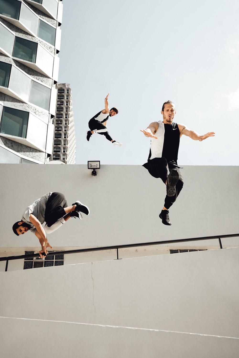 Parkour avec Nike Free X Metcon