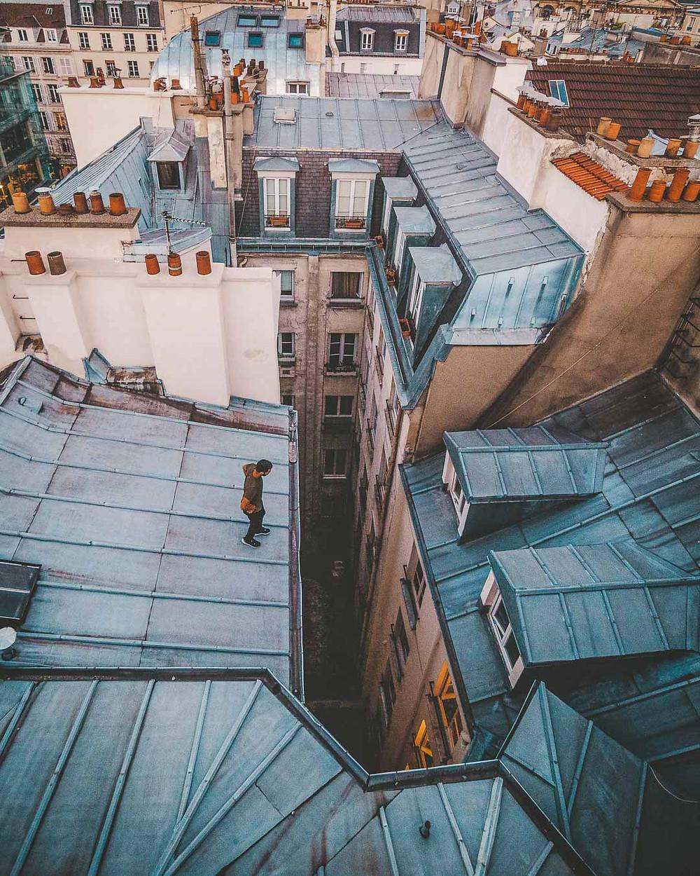 Analyse d'un saut de toits