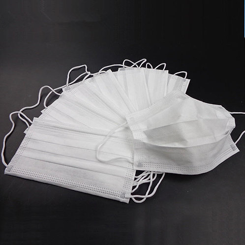 500 pcs white disposable protective masks