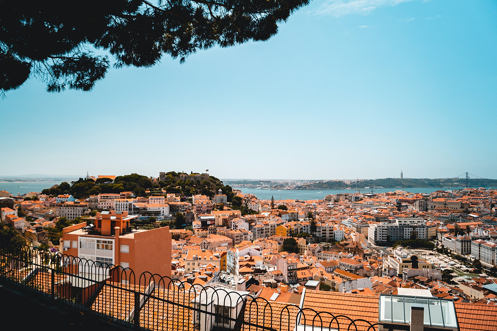 View from Graça Viewpoint in Lisbon
