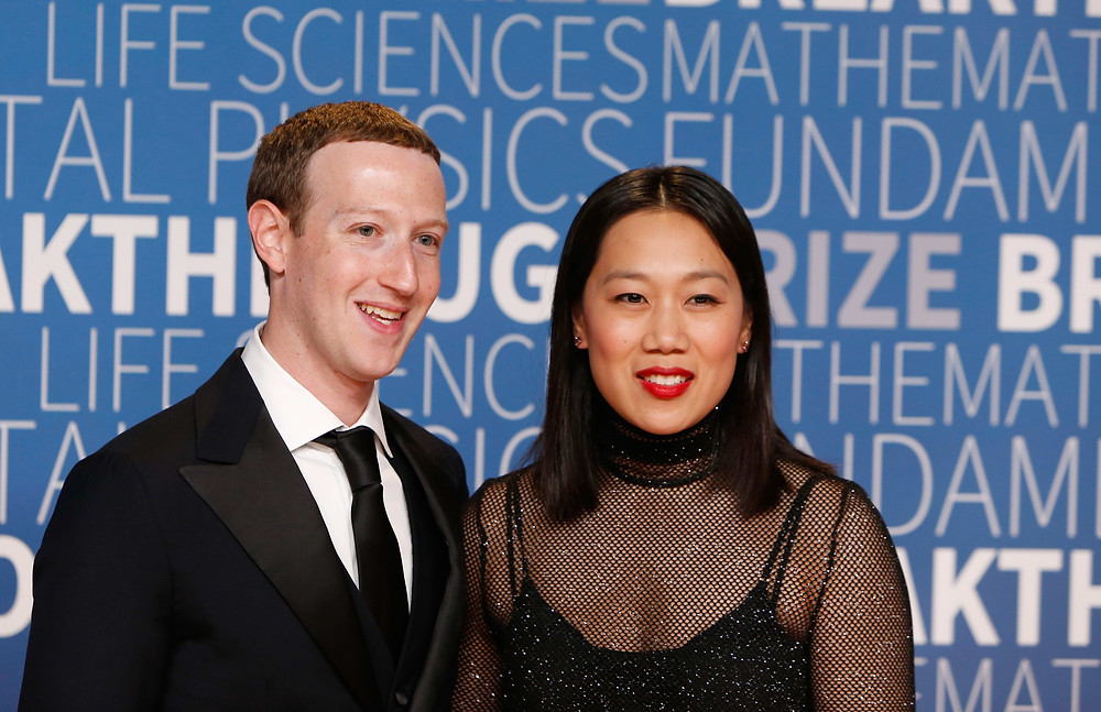 Photo of Mark Zuckerberg and Priscilla Chan