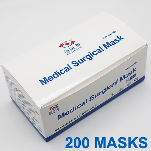MEDICAL MASKS - 200pcs