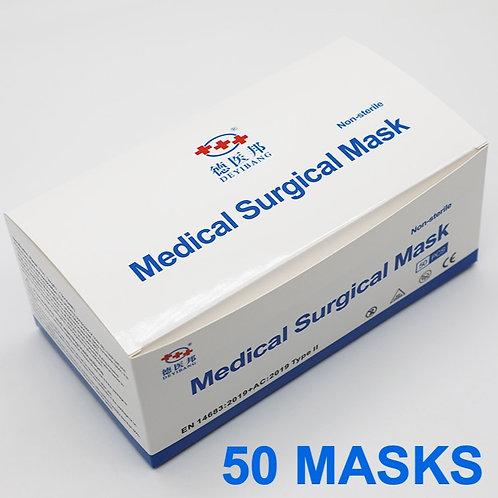 MEDICAL FACE MASKS - 50pcs