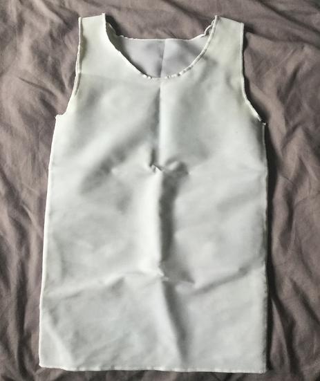White full-length binder