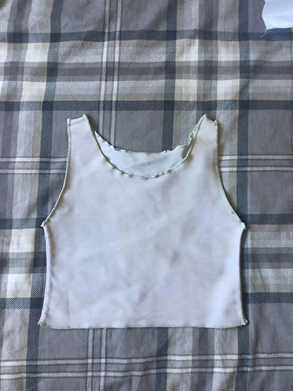 Beige Crop Binder