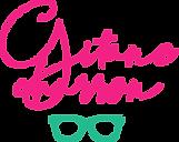 logo Gitane Charron rose lunettes turquo