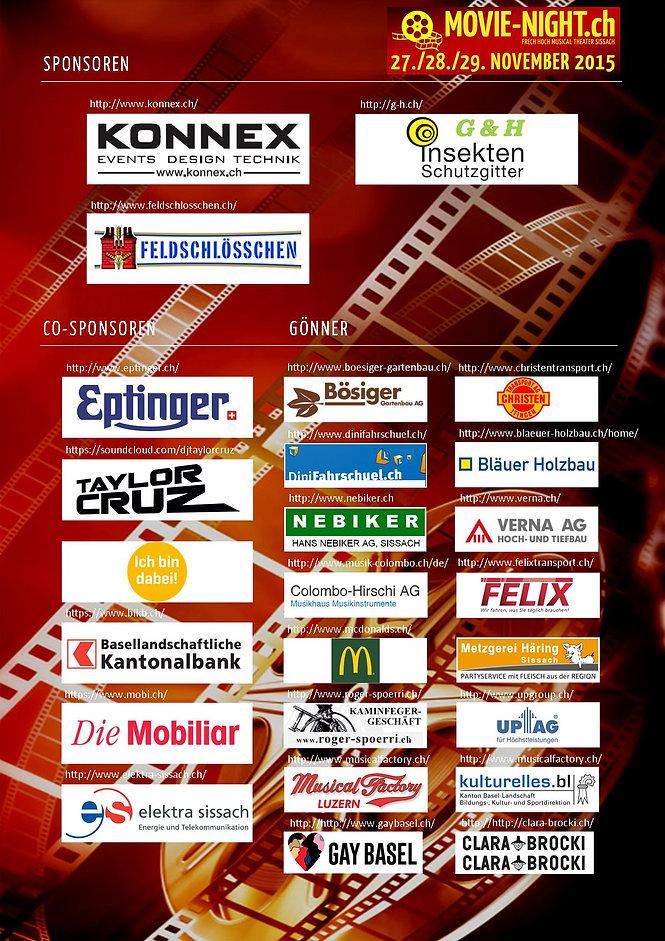 MVS | Sponsoren Movie Night 2015