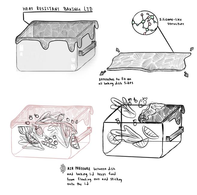 Float Resistant Baking Lids