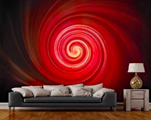 Vortex Red Wall Mural