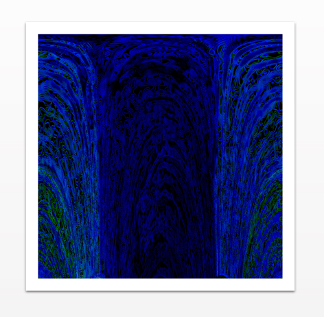 Blue Archways - Metal Print