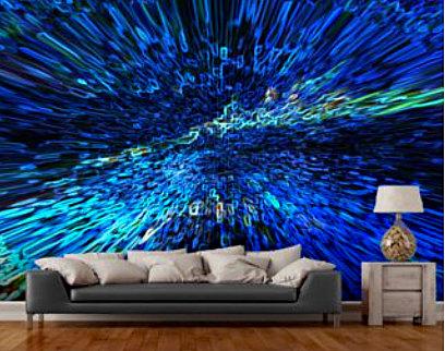 Electrified Wall Mural