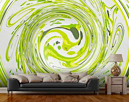 Curly Greens 2 Wall Mural