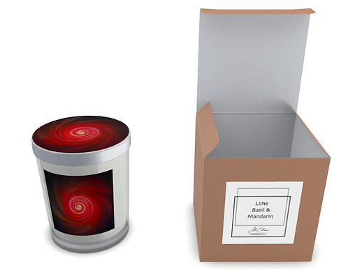 Vortex Red Natural Soy Candle