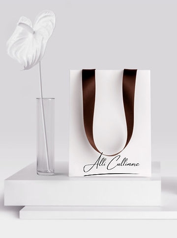 White Shopping Bag Image With Signature.