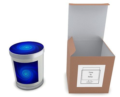 Vortex Blue Natural Soy Candle