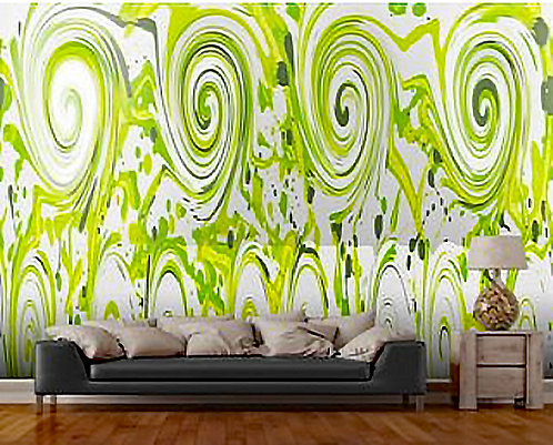 Curly Greens Wall Mural