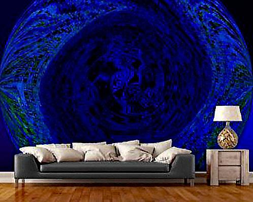 Circle of Blues Wall Mural