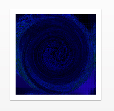 Circle of Blues 2 - Canvas Print