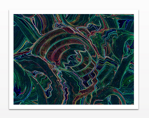 Psychedelic 1 - Metal Print
