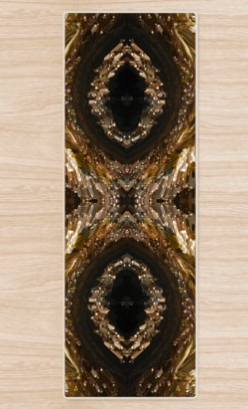 Waves of Gold Yoga Mat