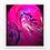 Thumbnail: Glowing Pink - Metal Print