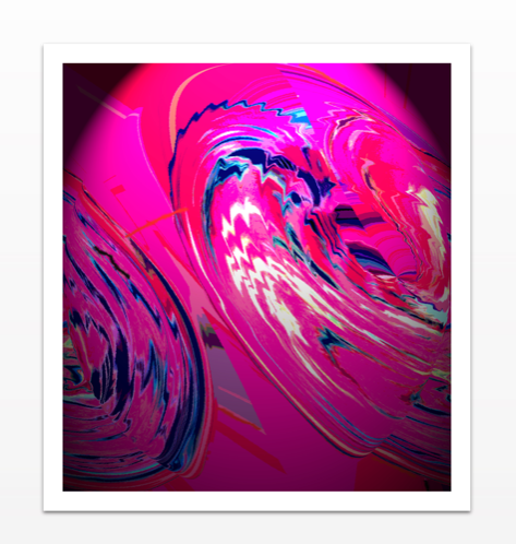 Glowing Pink - Metal Print
