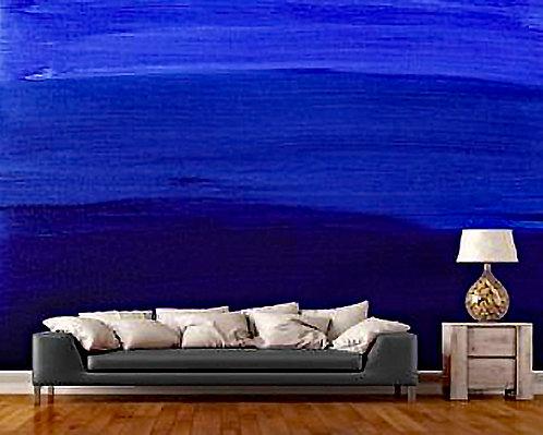 Blue Mellow Wall Mural