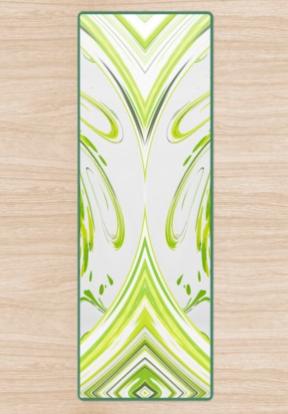 Curly Greens 2 Yoga Mat