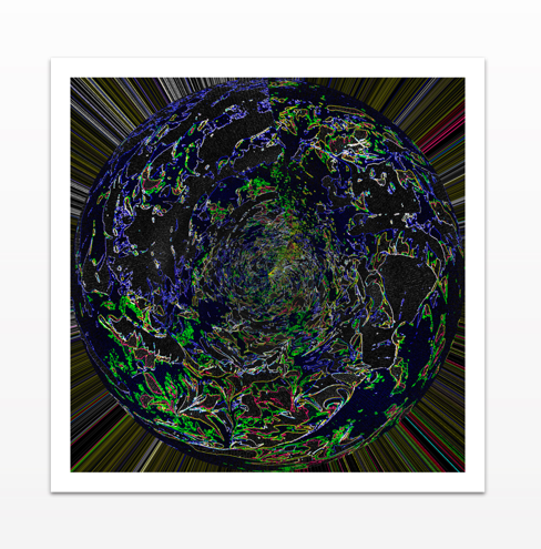 Diffused Moon - Metal Print