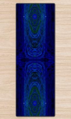 Blue Archways 2 Yoga Mat