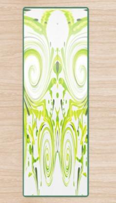 Curly Greens Yoga Mat