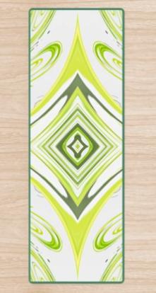 Curly Greens 2v2 Yoga Mat