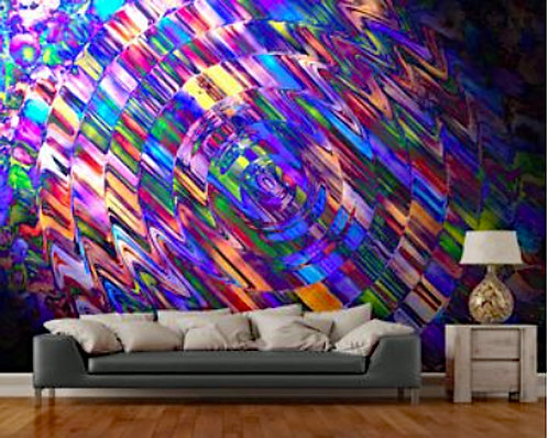 Comet of Colour Wall Mural